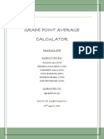 Report + User Manual for CGPA Calculating Software