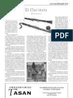 El clarinete, por Elías Ibáñez Lax