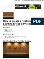 How to Create a Realistic IES Lighting Effect in Photoshop _ Psdtuts+