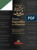 Recetas Imposibles de Etiquetar (Cerveza Alhambra)