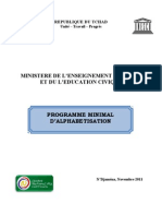 Programme Minimal d'Alphabétisation, République du Tchad (Novembre 2011)