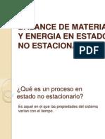 Balance de Materia y Energia en Estado No