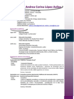 Resumen Curricular Sociologa Andrea López