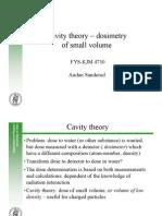 Cavity theory - dosimetry of small volume.pdf