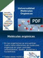 univeralidad moleculas organicas