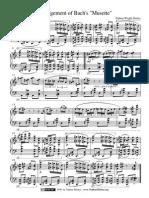 Arrangement of Bach's Musette