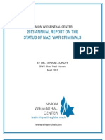 Nazi War Criminals Report 2013