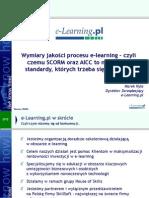 2005-04-01 Konferencja PTI Wirtulane campusy-nowy wymiar edukacji Wymiary jakości procesu e-learning