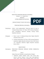 PERPRES No. 72 Tahun 2012 Ttg Sistem Kesehatan Nasional