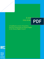 A handbook on issues of transition from the Commission on Human Rights to the Human Rights Council