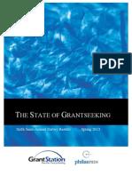 Spring 2013 State of Grantseeking Report