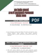 Çağdaş Hukukçular Derneği Atölye Çalışması Programı Nisan 2009
