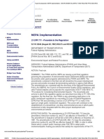 NEPA and FHWA project implementation