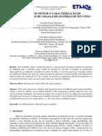 Materiais para baterias recarregáveis - NANOCRISTALITOS DE LiMn2O4