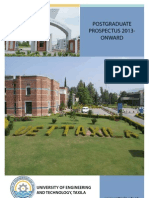 UET Taxila Post Graduate Prospectus_PG_2013_Final