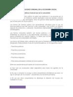 SISTEMA DE RECIPROCIDAD COMUNAL EN LA ECONOMÍA SOCIAL tema III