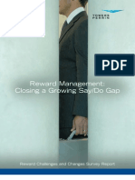 Reward Management Closing Growing SayDo Gap