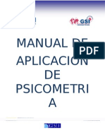 Manual de Aplicacion de Psicometria