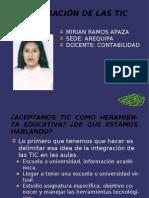 Diapositivas Integracion Tic Mirian Ramos