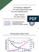 Design of Ceramic-Capacitor VRM/VRD's with Estimated Load Current Feedforward