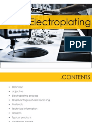 54829832 Electroplating PPT (1) | Materials | Manmade Materials