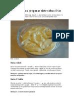 Apuntes para preparar siete salsas frías