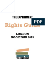 The Experiment London Book Fair 2013 Rights Guide
