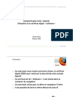 Authentification Forte OpenID Avec Certificat Software