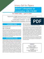 Call for Papers UHV Colloquium 2013 New Delhi PDF