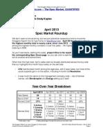 Scoggins Report - April 2013 Spec Market Roundup