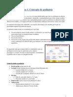 Tema 1. Concepto de pediatría.