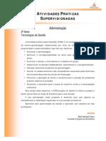 Cead 20131 Administracao Pr - Administracao - Tecnologias de Gestao - Nr (a2ead275) Atividades Praticas Supervisionadas Atps 2013 1 Adm 3 Tecnologias Gestao (1)