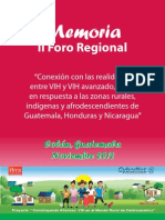 Memoria II Foro Regional VIH Mundo Rural