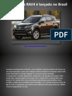 Novo Toyota RAV4 é lançado no Brasil