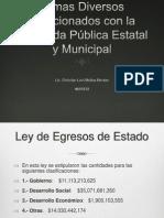 Temas Diversos Relacionados con la Hacienda Pública Estatal y Municipal