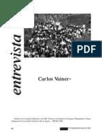 VAINER, Carlos. Entrevista. Proposta, n. 78. 1998