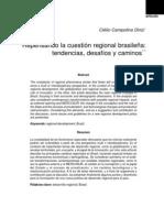 DINIZ, Clélio Campolina.. Repensando la cuestión regional brasileña - tendencias, desafíos y caminos. Eure, v. 29, n. 88. 2003