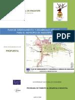 Documento Propuesta Urbana, Masatepe Definitivo