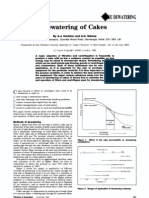 Dewatering of Cakes
