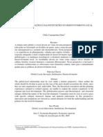 DINIZ, Clélio Campolina. O papel das inovações e das instituições no desenvolvimento local. XXIX Encontro Nacional de Economia. Salvador, 2001