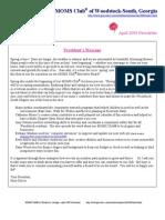 April 2009 Newsletter