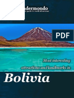 Landmarks and attractions in Bolivia