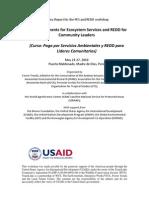 Conference_WorkshopSummaryPESREDDPeru.pdf