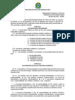 RESOLUÇÃO Nº 09 DE 16 DE MARÇO DE 2012