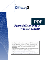 OpenOffice Word Processor Writer