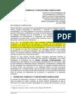 TEORI¦üAS DEL CURRI¦üCULO Y CONCEPCIONES CURRICULARES