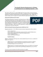 MI-DIFS Education Notice of New Michigan-Specific Content