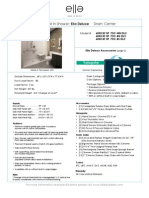 Deluxe 60X33 Roll in Shower Center Drain Specification Sheet