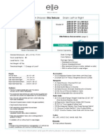Deluxe 60X30 Roll in Shower Left or Right Drain Specification Sheet