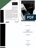 Honneth - La Lutte Pour La Reconnaissance